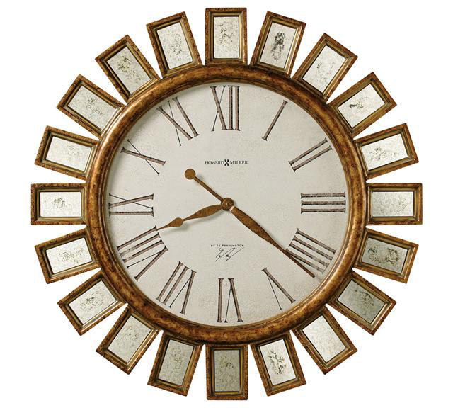 The Howard Miller Solaris Gallery Wall Clock