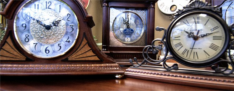 The Clock Shop Sells Mantle Clocks for sale and Table Clocks for Sale
